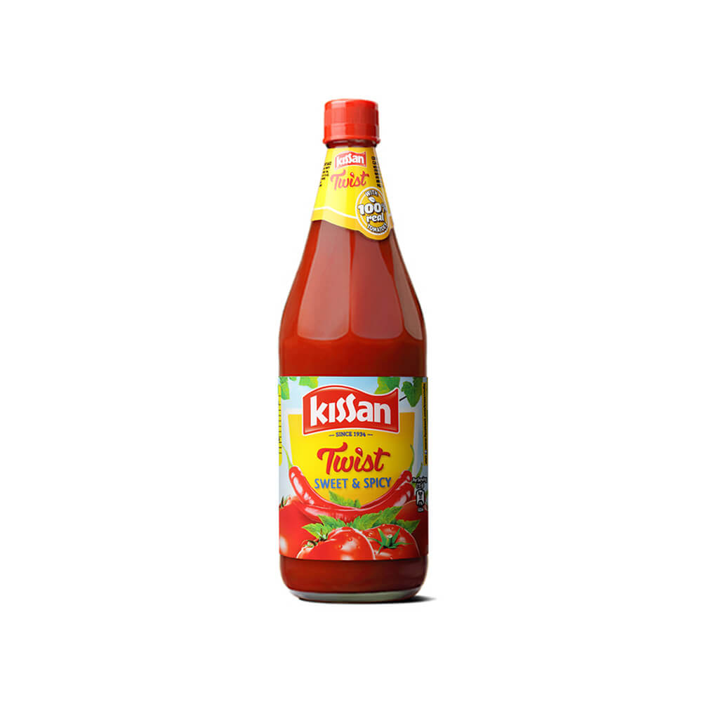 Kissan Twist Sweet Spicy Tomato Ketchup 1kg 2
