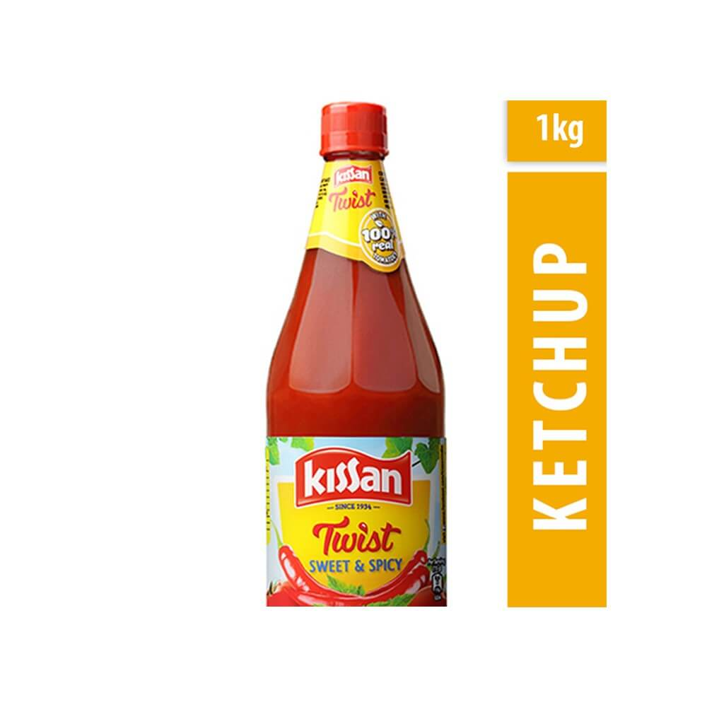 Kissan Twist Sweet Spicy Tomato Ketchup 1kg