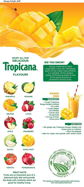 Tropicana Mango Delight Juice 1ltr 2