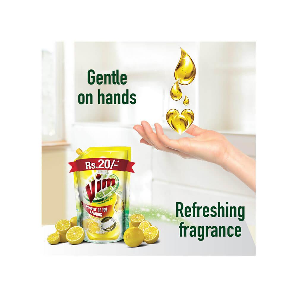 Vim Lemon Dishwash Gel 250 ml 5